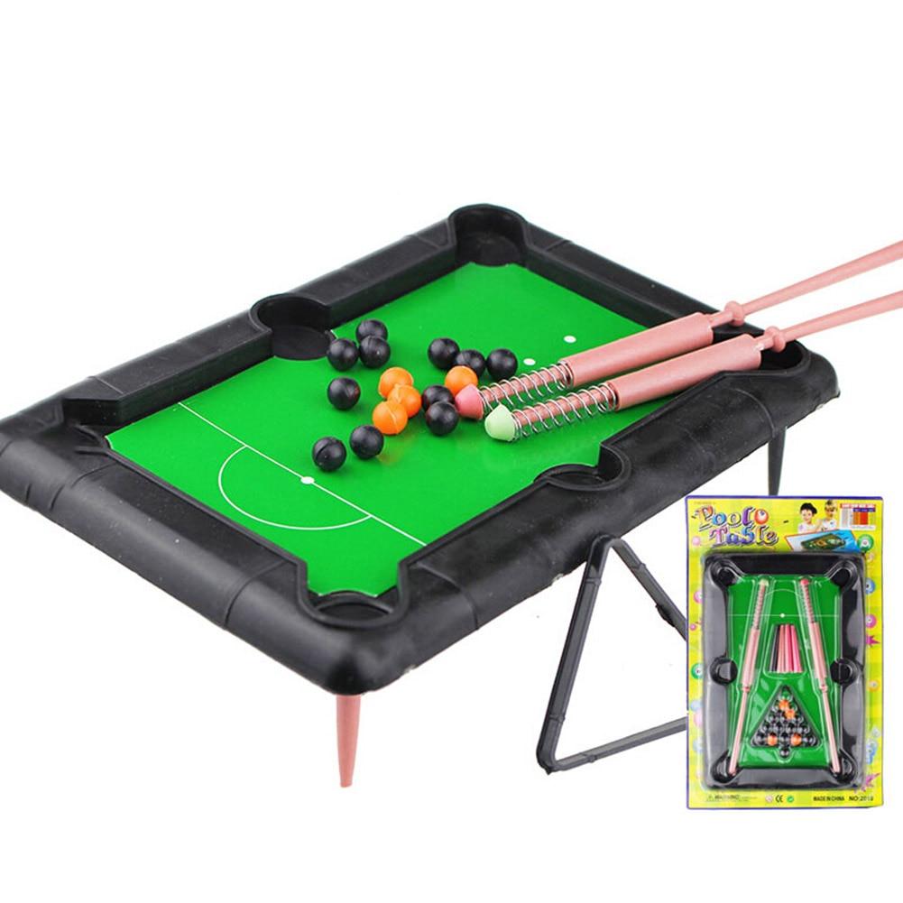 2018 Mini Desktop Pool Table Kids Educational Toys Childrens Billiard Table Family Game Table Recreation Supplies