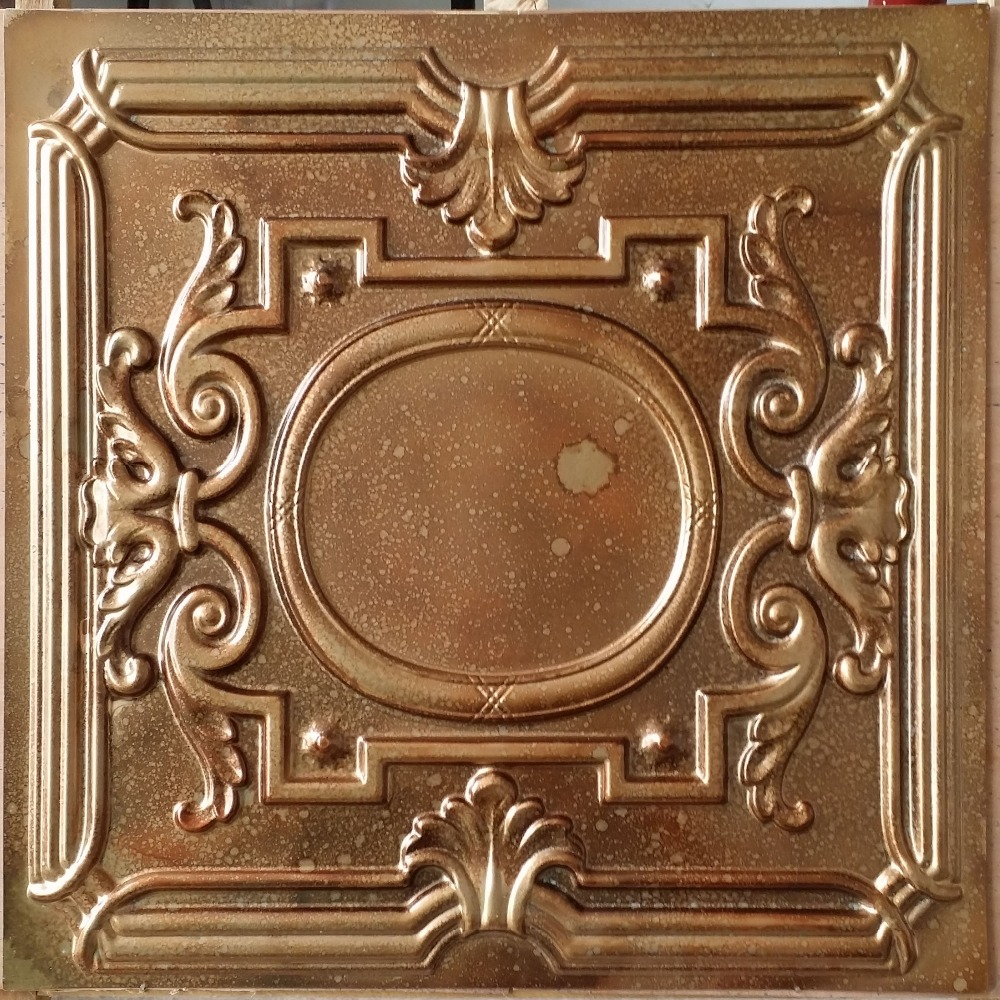 Pressed Tin Fleck Copper Ceiling Tiles
