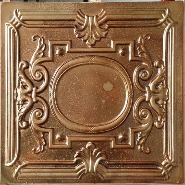 Pl15 Faux Tin Pressed Tin Fleck Copper Ceiling Tiles Interior Wall