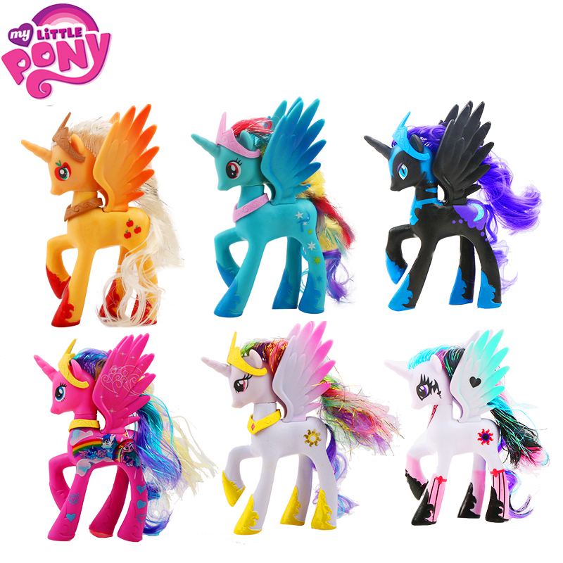 Model-Dolls Unicorn Action-Figures Little-Pony-Toys Rainbow Pinkie Pie Magic-Pop Colletion
