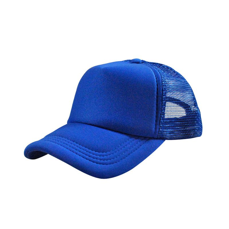 Adjustable Unisex Attractive Men Women Solid Baseball Sports Cap Trucker Mesh Blank Summer Visor Hats