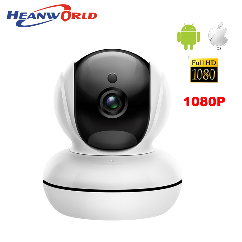 Heanworld Mini WIFI PTZ IP Camera wireless HD 1080P webcam Night Vision Audio Pan/Tilt SD Card Surveillance Network video cam