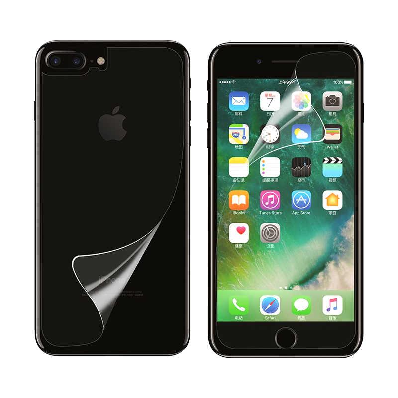 Welsely Ясно Передняя Экран протектор задняя крышка защитные ПЭТ Плёнки щит для iphone 8 7 8 плюс Ecran Аксессуары для мобильных телефонов