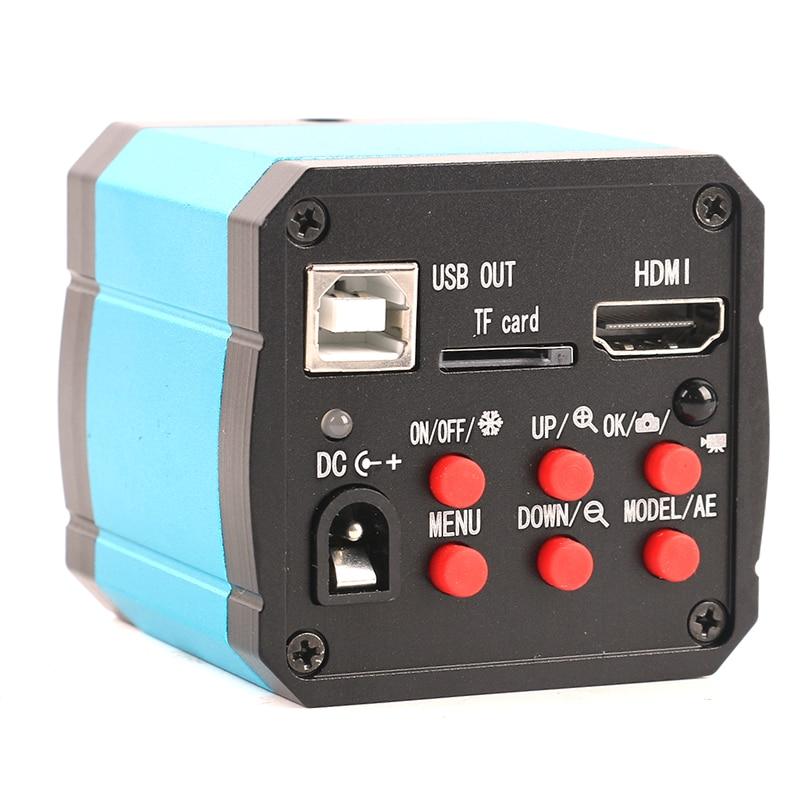 1080P 21MP HDMI USB Industrial Video Microscope Camera C mount TF Video Recorder IR Remote Controller