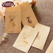 8 шт./партия, винтажный бумажный конверт с оленем и животными, скрапбукинг, конверты, маленькие конверты, kawaii, канцелярские принадлежности, подарок