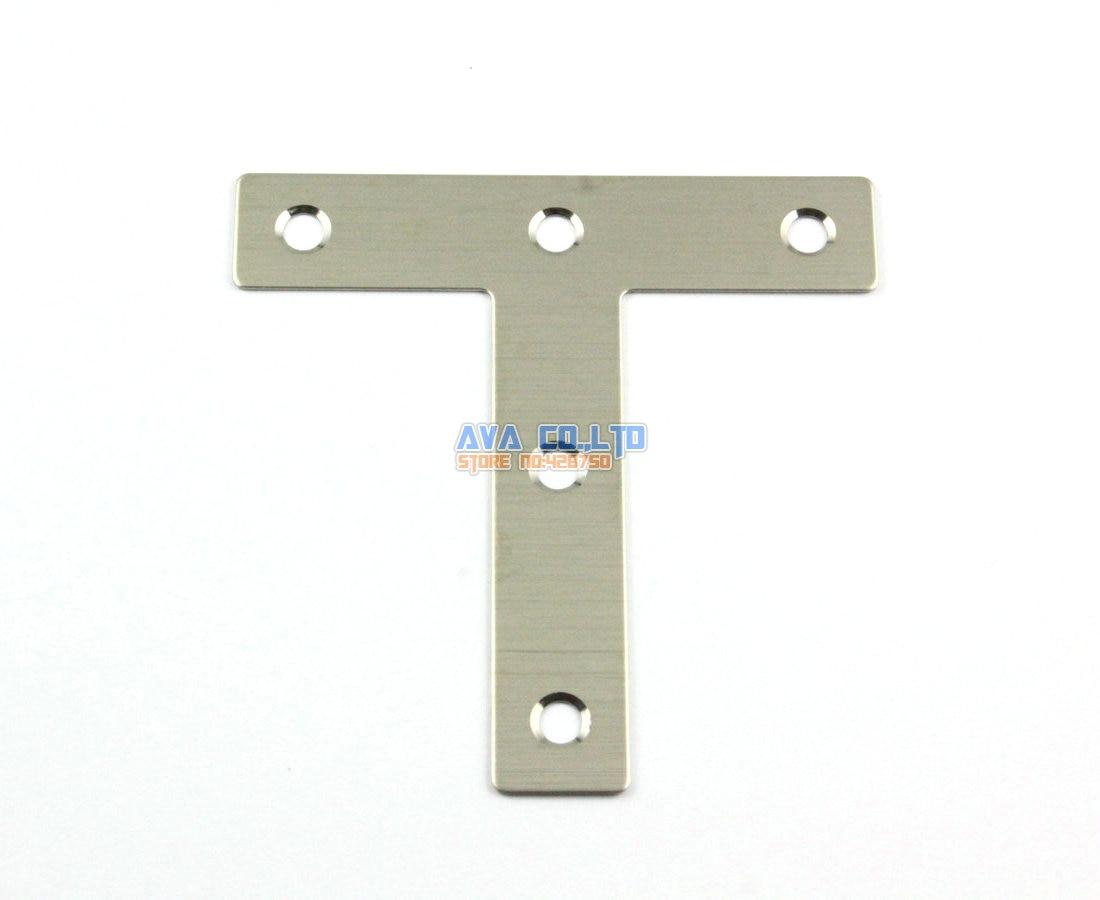 16 Pieces 80*80mm Stainless Steel L Shape Flat Corner Brace Bracket