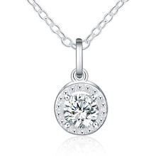 Fashion Cross CZ Crystal Zircon Stone Pendant Necklace Jewelry