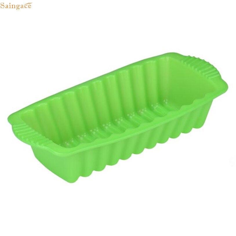 Saingace silicone rectangle non stick bread loaf cake mold