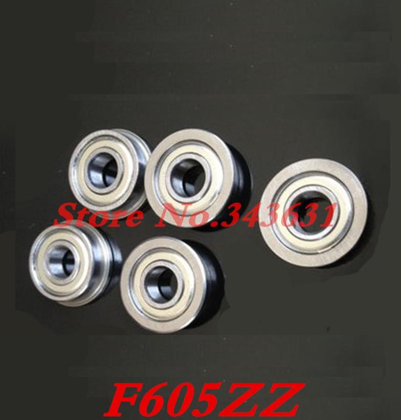F605ZZ Flange Bushing Ball Bearings  4*12*4 Mm Metal Double Shielded Radial Shaft
