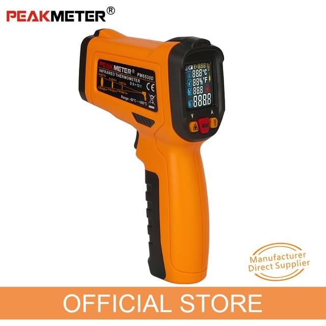 PM6530D digitale laser infrarood thermometer hygrometer type K UV licht elektronische temperatuursensor vochtigheid meter pyrometer