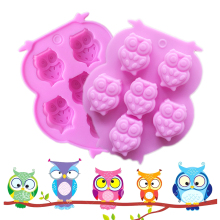 1Pcs DIY Chocolate Mold Ice Cube Ice Cube Tray Soap Mold Owl Shaped Silicone Cake Mold,Ice, Cupcake, Lollipop,& Sugar Tool