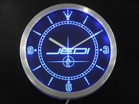 Nc0213 Jedi di Star Wars Neon Sign Orologio Da Parete A LED