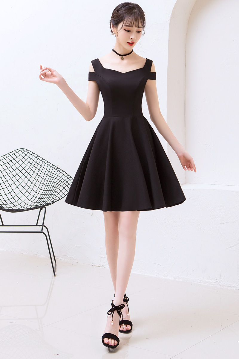 a17c92a7ac US $44.65 5% OFF|New Black Cocktail Gown Cute Above the Knee Elegant Formal  Graduation Party Simple Party Cocktail Dress 2018 Vestido Preto-in ...