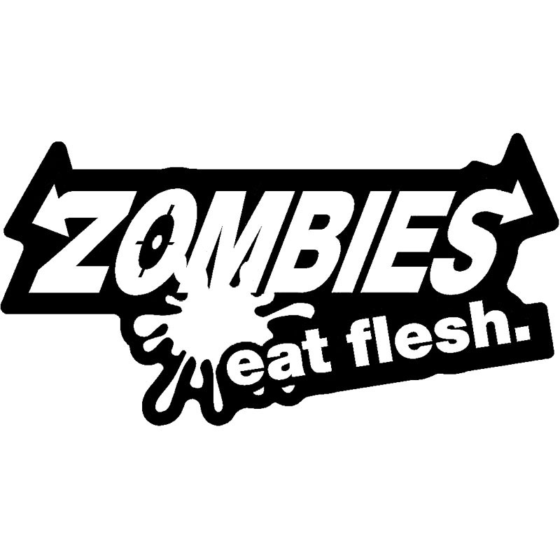 15CM <font><b>X</b></font> 8CM For Zombie Dining Chair Vinyl Car-style Motorcycle Fashion Decals Stickers Car image