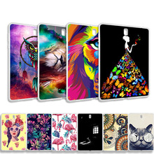 Akabeila DIY Patterned Tablets Case For Samsung Galaxy Tab S4 10.5 SM-T830 Silicon Soft TPU Case Anti-knock Protective Cover