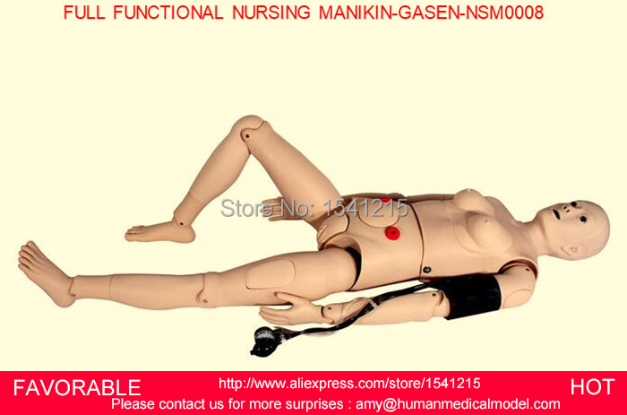 MANIKINS ,GENDER INTERCHANGEABLE NURSING MANIKIN,FEMALE/MALE NURSING MANIKIN, ,FULL FUNCTIONAL NURSING MANIKIN-GASEN-NSM0008 bix h2400 advanced full function nursing training manikin with blood pressure measure w194