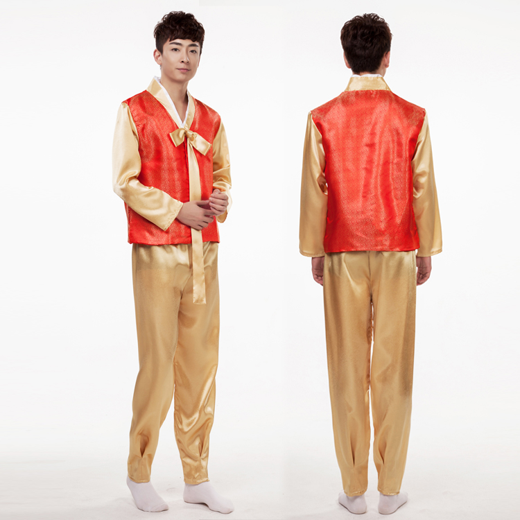 Time limited Rushed Polyester Dance Costumes Hmong Clothes Men Traditional Korean Hanbok Court ...