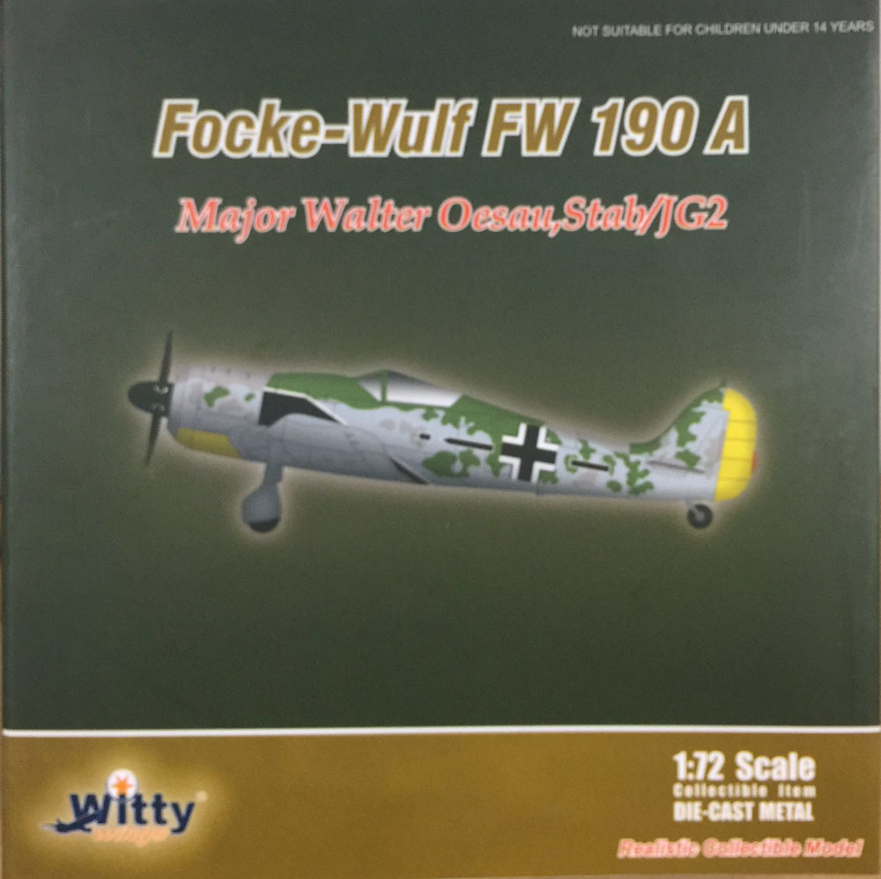 021-008 FW-190 Major Walter Oesau Stab/JG2, 1:72 Witty Finished Model