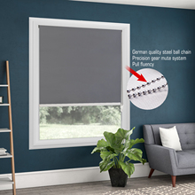 100% Blackout Metal Bead Rope Gray Roller Blinds Thermal Shade Window Customized