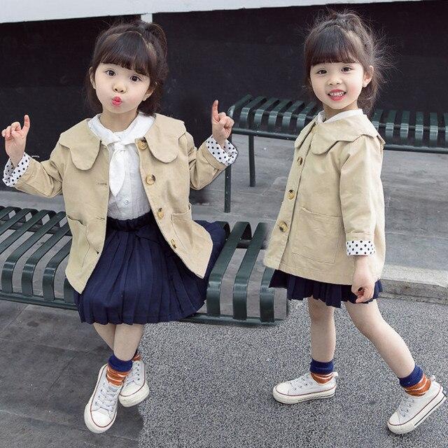 0188da505 JMFFY bebé niñas abrigo de Otoño de 2019 chaquetas de primavera los niños  de ropa de manga larga Niño prendas de vestir exteriores 2-9 T cazadora  niños
