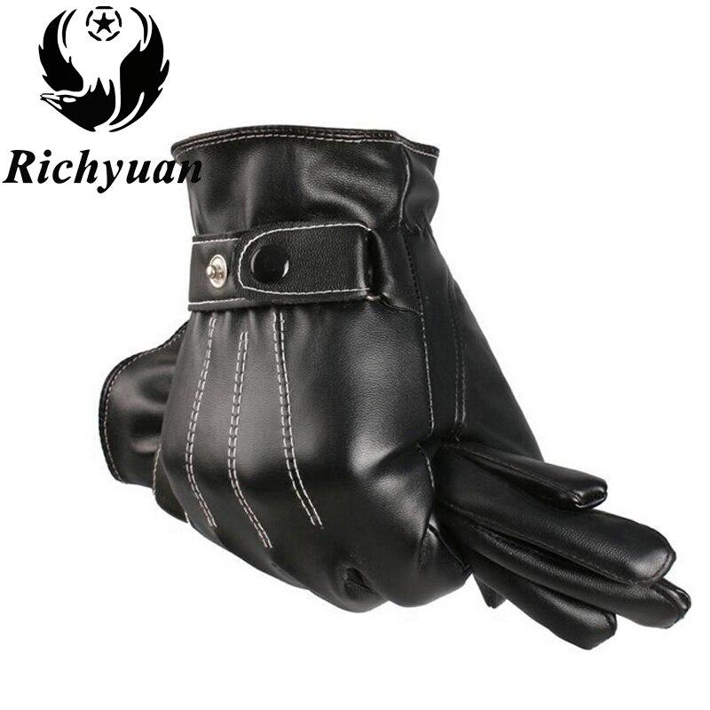 Winter Men's Genuine Leather Gloves 2017 New Brand Touch Screen Gloves Fashion Warm Black Gloves Goatskin Mittens Winter Gloves