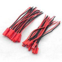 Горячая 10 пар 100 мм JST разъем кабель штекер+ мама для Rc модели автомобиля Lipo батареи