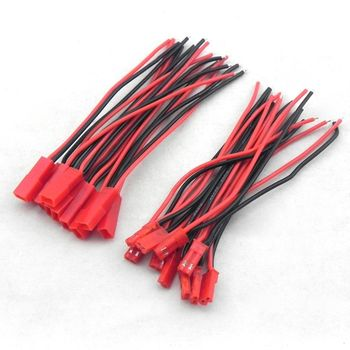 Hot 10 Pairs 100mm JST Connector Plug Cable Male+Female for Rc Model Car Lipo Battery
