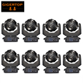 Freeshipping 8 Unit 12x20W Led Football Moving Head Light 21 Channels Ultimate Rotation Beam Scanner Light Cree RGBW Individual