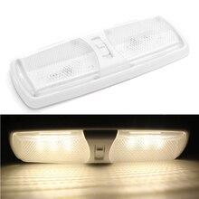 12 v 18LED LED כיפת אור רכב פנים תקרת מנורת עבור חניך קרוואן ימי יאכטה RV