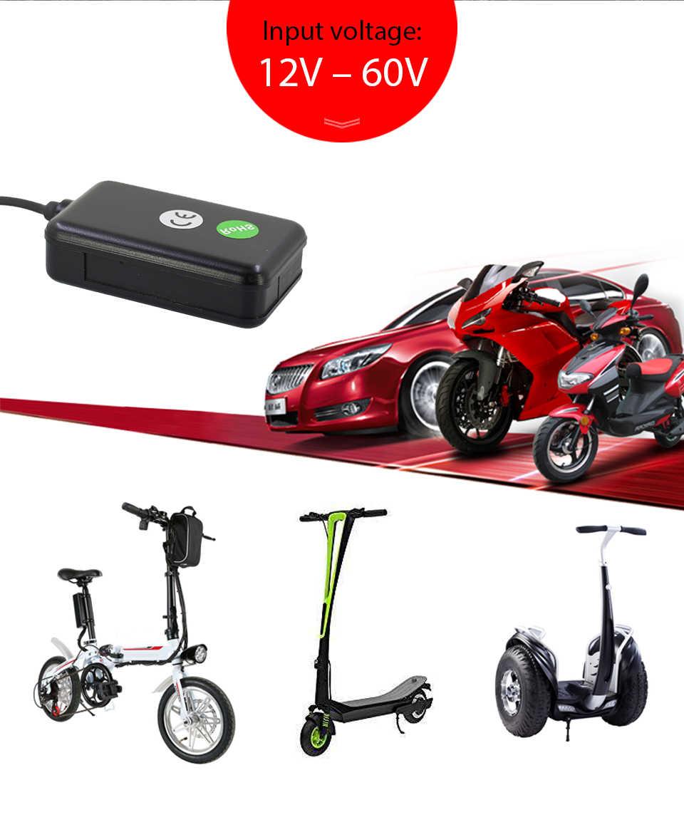 Universel véhicule GPS Tracker voiture vélo e-bike Moto 12-60 V facile caché Mini étanche logiciel gratuit APP gt06 localisateur