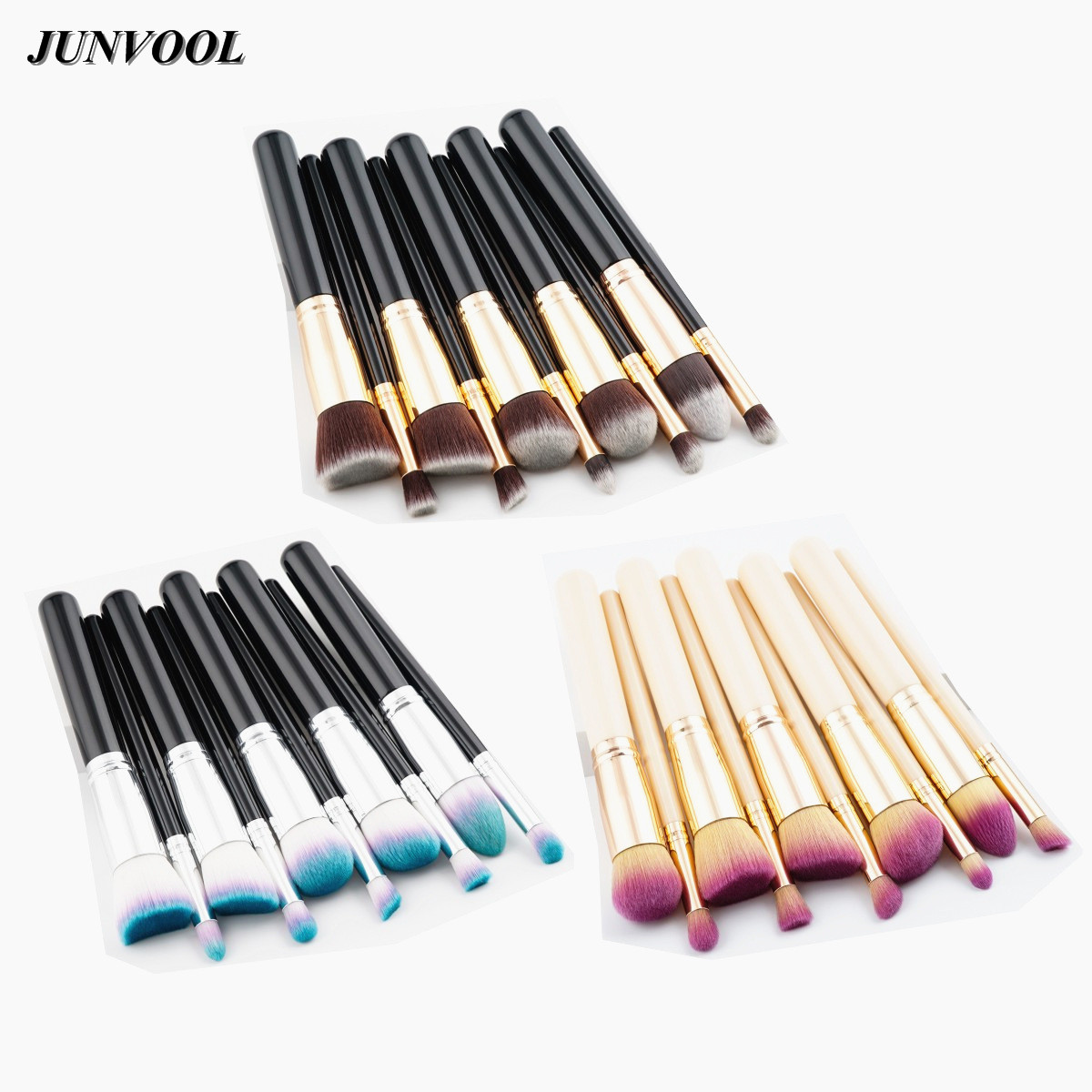 Gold Make Up Brush Set 10pcs Beauty Cosmetic Foundation Eye Eyebrow Shadow Blending Brushes for Makeup Tool Kit Professional DIY g073 professional makeup brush goat hair ebony handle make up eye shadow smudge brushes cosmetic tool eye shadow blending brush