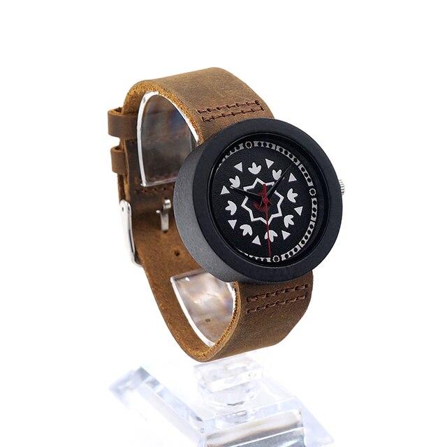Zegarek damski drewniany Bobobird Aztec Pattern cztery kolory