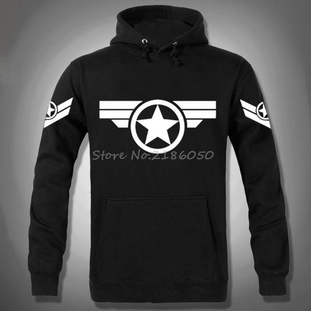 76811d65b2034 Nouveau Captain America Civil sweat à capuche sweat Marvel Comics sweats à  capuche à manches longues