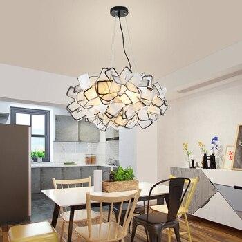 Nuevo diseño de la lámpara de suspensión de clitia luces colgantes coloridas flor Led luz colgante dormitorio luz café luces envío gratis