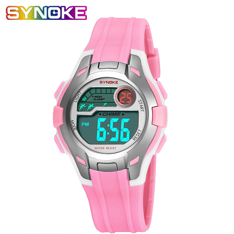 SYNOKE Children's Watch Digitally Teenage Watches Girls Kids Watch Waterproof Boy Silicone Sports Watch Strap Montre Enfant