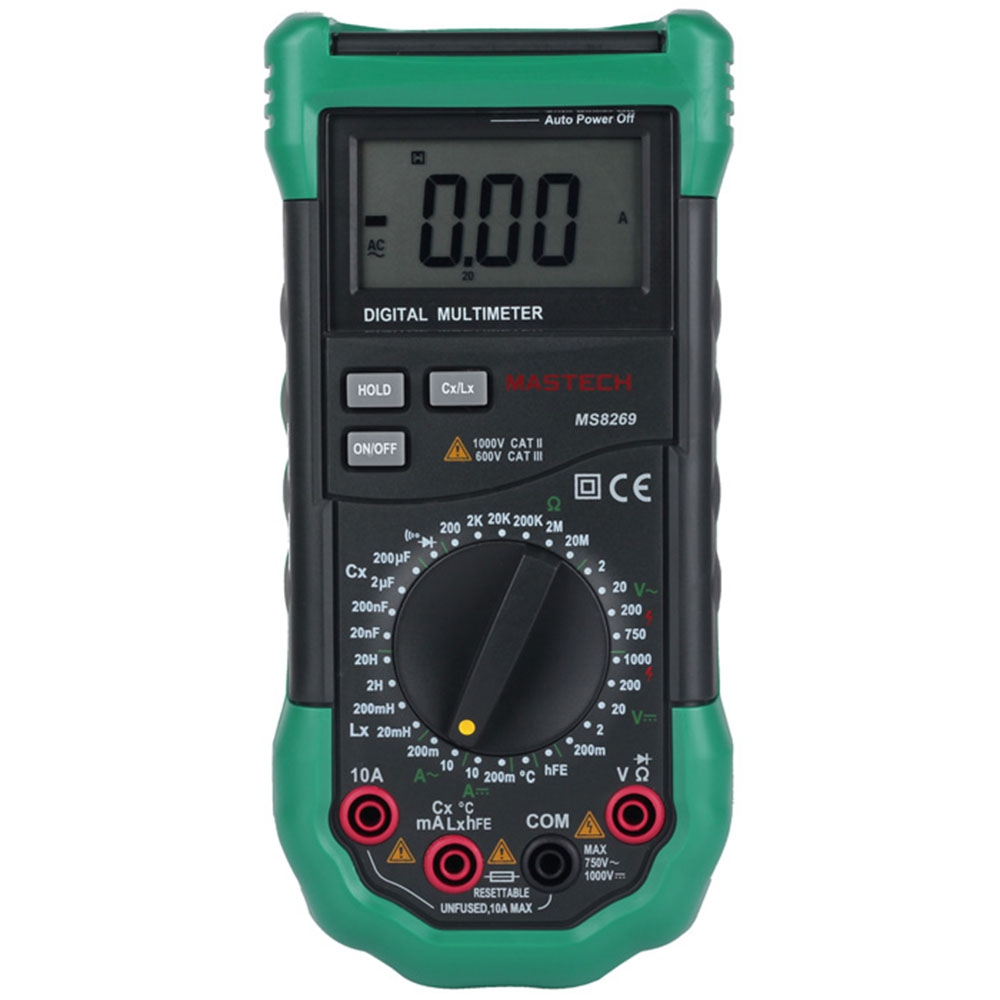 Mastech MS8269 Digital Multimeter AC  DC Voltage Current Resistance Capacitance Frequency Professional DMM Tester Device