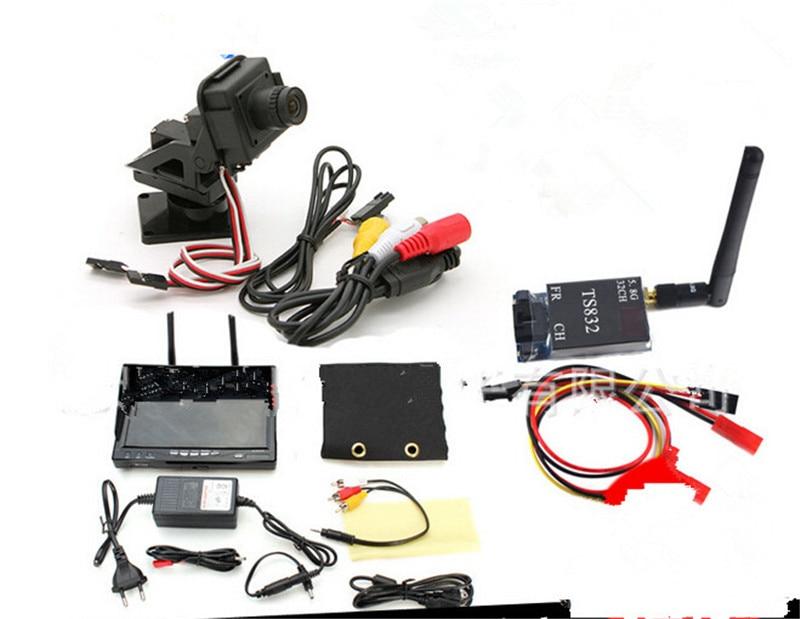 TS832 600 mW transmetteur sans fil PAL système 2 axes Servo cardan caméra une Machine 7 800*480 RC732 DVR TFT LCD écran