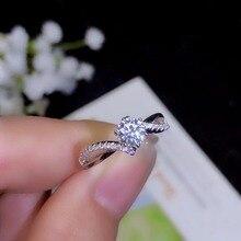 Moissanite pierres précieuses haute densité, style classique, comparables aux diamants. 0.5 carats. Argent 925 véritable, véritable argent