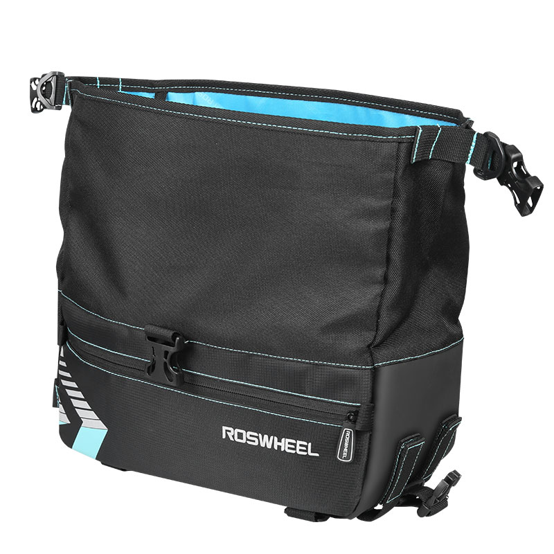 ROSWHEEL Hot Cycling Bag for Carrier Rack Mount Luggage Baggage Pannier Volume Adjustable Hand Carry Detachable Shoulder Belt