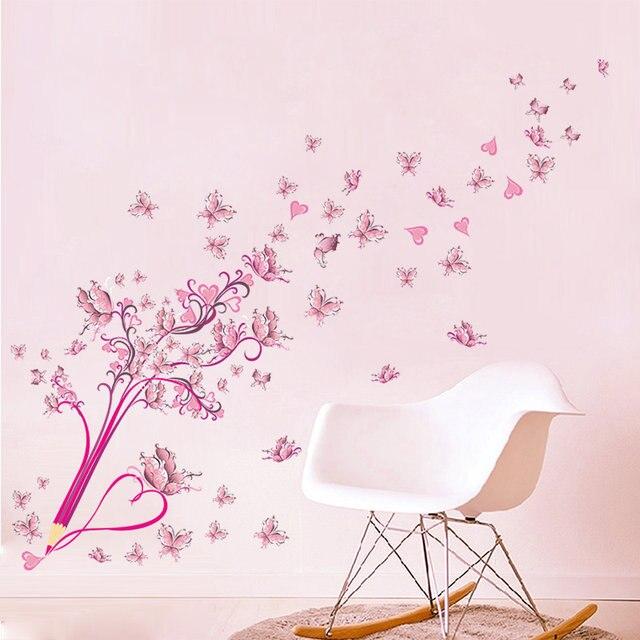 Online-Shop Kreative Bleistift Blume Schmetterling Rosa Baum ...