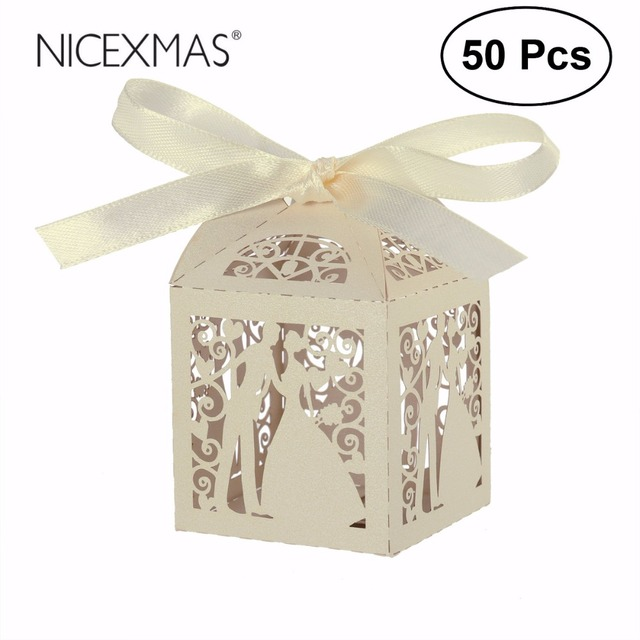 Easter 50pcs couple design luxury lase cut wedding sweets candy gift easter 50pcs couple design luxury lase cut wedding sweets candy gift favour boxes with ribbon table negle Image collections