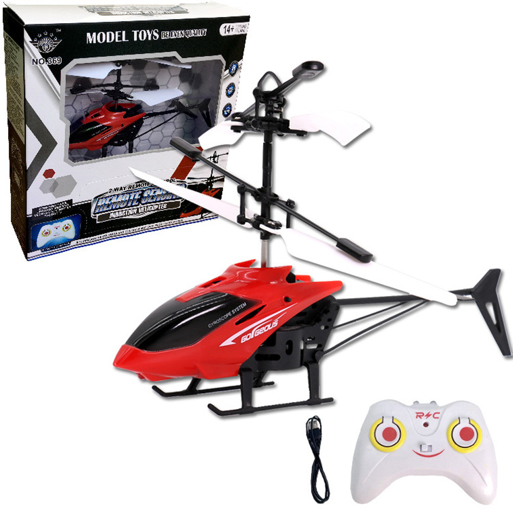 new Flying Mini RC Infraed Induction Helicopter Aircraft Flashing Light Toys For Kids j24e30