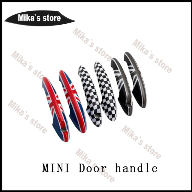 4PCS For Mini Cooper Accessories countryman clubman R60 R61 car-styling Door knob Door handle shell Covers Decoration Sticker aliauto car styling car side door sticker and decals accessories for mini cooper countryman r50 r52 r53 r58 r56