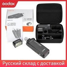 Godox AD200 200Ws 2.4G ile TTL Flaş Strobe 1/8000 HSS Akülü Monolight 2900 mAh Lithimu Pil