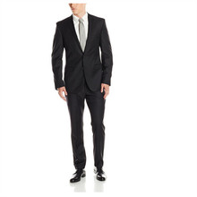 The latest men's suit black lapel groomsman/groom wedding suit two-piece mens formal suits pure color fashion (jacket and pants)