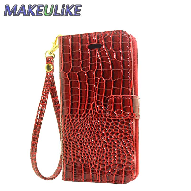 Wallet Case For Nokia Lumia 640 Flip Cover Case Crocodile PU leather Phone Bags Cases For Microsoft Lumia 640 Dual Sim / LTE