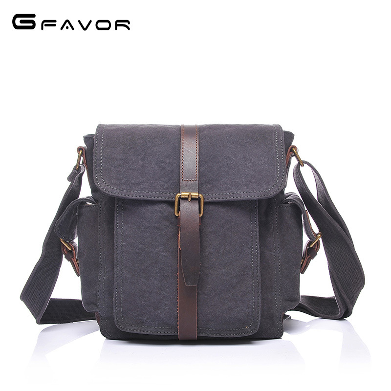 canvas Leather Bag Men Bags Small Casual Flap Shoulder Crossbody Bags Male single Shoulder Handbags Messenger vintage bag augur fashion men s shoulder bag canvas leather belt vintage military male small messenger bag casual travel crossbody bags