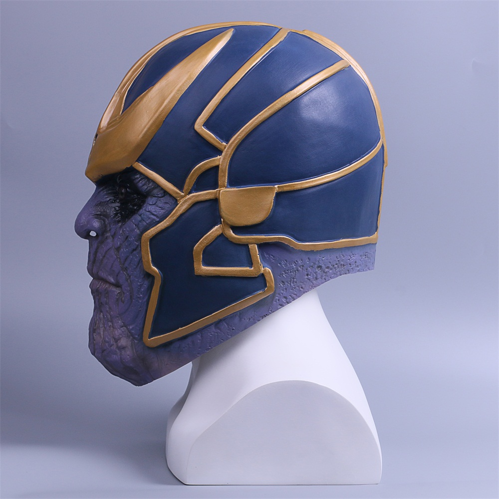 2018 Avengers Infinity War Mask Thanos Mask Cosplay Full Head Latex Super Hero Costume Halloween Party Prop (6)
