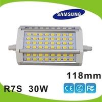 DHL 무료 배송 10pcs/lot 30w 118mm 주도 r7s 빛 삼성 5630 SMD j118 r7s 램프