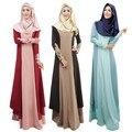 Новое Прибытие женская кружева мусульманское платье с длинным рукавом исламская одежда абая платье плюс размер блока цвета арабский платье исламский абая